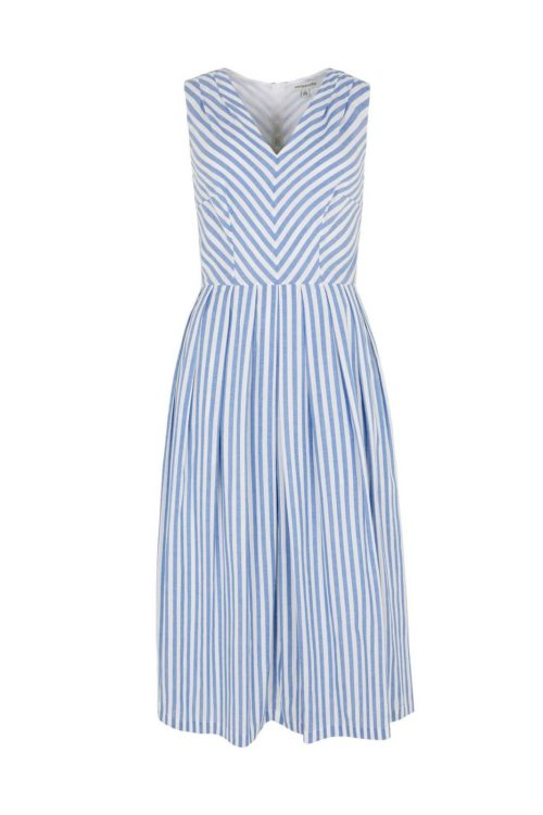 Emily & Fin Josie Sunflower Stripe Midi Dress
